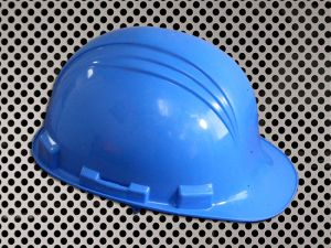 Plastic Hard Cap with Ratchet Headband - Blue