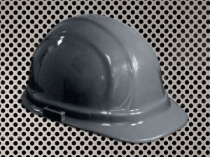 Plastic Hard Cap with Ratchet Headband - Grey