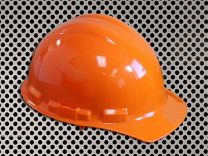 Plastic Hard Cap with Ratchet Headband - Orange
