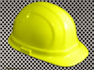 Plastic Hard Cap with Ratchet Headband - Yellow