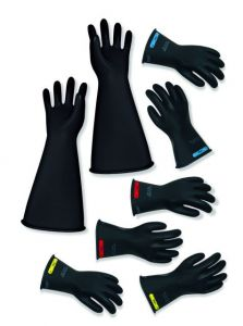 """CPA  LRIG-2-16 Class 2 16"""" Insulated Rubber Gloves Black"""