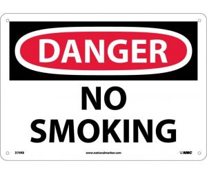 NMC D79RB Danger No Smoking Sign 10x14