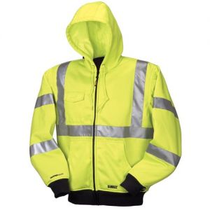 DEWALT High Visibility Class 3 Heated Hoodie  Yellow Color  - 1 / Box