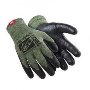 HexArmor 2082 Palm-Coated Kevlar Gloves Green Color 1 Pair