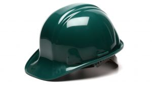 Pyramex HP14035 SL Series Hard Hat One Size ANSI Z89.1 standards, Type 1 - Class C, G, and E Polyethylene  Green Color - 16 / CS