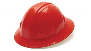 Pyramex HP26120 SL Series Full Brim Hard Hat One Size ANSI Z89.1 standards, Type 1 - Class C, G, and E Polyethylene  Red Color - 12 / CS