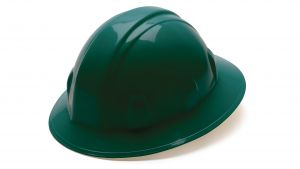 Pyramex HP26135 SL Series Full Brim Hard Hat One Size ANSI Z89.1 standards, Type 1 - Class C, G, and E Polyethylene  Green Color - 12 / CS