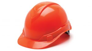 Pyramex HP46141 Ridgeline Hard Hat One Size ANSI Z89.1 standards, Type 1 - Class C, G, and E ABS  Orange Color - 16 / CS