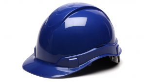 Pyramex HP46160 Ridgeline Hard Hat One Size ANSI Z89.1 standards, Type 1 - Class C, G, and E ABS  Blue Color - 16 / CS