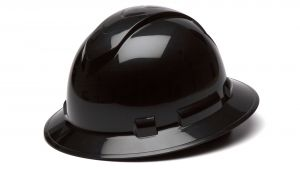 Pyramex HP54111 Ridgeline Hard Hat One Size ANSI Z89.1 standards, Type 1 - Class C, G, and E ABS  Black Color - 12 / CS