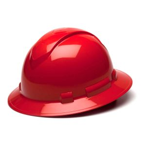 Pyramex HP54120 Ridgeline Full Brim Hard Hat One Size ANSI Z89.1 standards, Type 1 - Class C, G, and E ABS  Red Color - 12 / CS