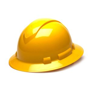 Pyramex HP54130 Ridgeline Full Brim Hard Hat One Size ANSI Z89.1 standards, Type 1 - Class C, G, and E ABS  Yellow Color - 12 / CS