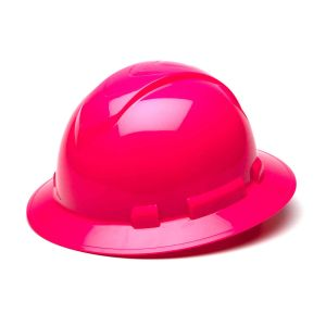Pyramex HP54170 Ridgeline Full Brim Hard Hat One Size ANSI Z89.1 standards, Type 1 - Class C, G, and E ABS  Pink Color - 12 / CS