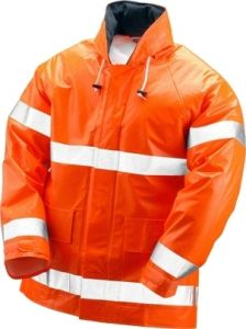 Tingley Electra Jacket Fluorescent Attached Hood Silver Reflective Tape