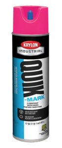 Krylon QUIK MARK Fluorescent Pink Water based Inverted Marking Paints 17 oz. 12 Cans