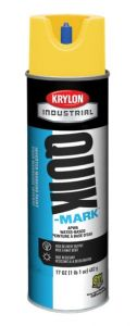 Krylon QUIK MARK Utility Yellow Water based Inverted Marking Paints 17 oz. 12 Cans