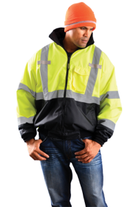 Occunomix Classic Three-Way Black Bottom Bomber Jacket Yellow Color 1 Each