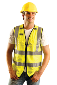 Occunomix Class 2 Premium Solid Dual Stripe Full Surveyor Vests (1 EA)