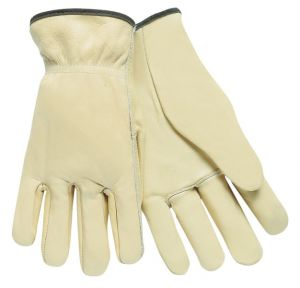 MCR 3201 Drivers glove, Select Grade Unlined Grain Cow Leather, Straight Thumb 1/DZ