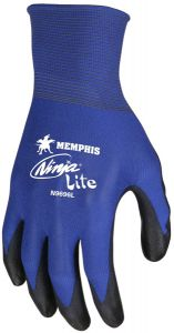 MCR Ninja Lite N9696 Nylon Work Gloves, Blue (1 PR)