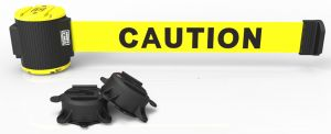 Banner Stakes MH5001 30' Magnetic Wall Mount Barrier, Caution