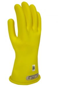 NSA DWH1100-Y Class 00 Yellow Rubber Voltage Gloves 1 Pair
