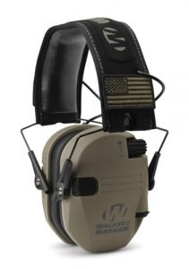 Walker's Hearing GWP-RSEMPAT-FDE Razor Patriot Series Razor Slim Electronic Muff