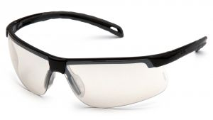 Ever-Lite Safety Glasses - Indoor/Outdoor Mirror Anti-Fog Lens with Black Frame (Box of 12)