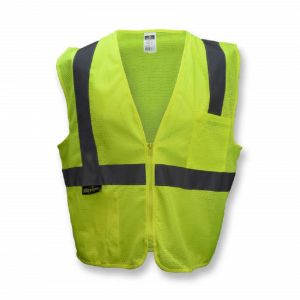 Radians SV2ZGM Economy Type R Class 2 Mesh Safety Vest with Zipper, Hi-Vis Yellow, 1 Each