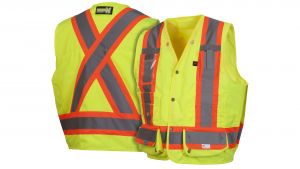 Pyramex RCMS28SE Series Type R - Class 2 Non FR Self Extinguishing Hi-Vis Green Color - 1 Each