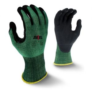 Radians Axis RWG538 Work Gloves, Cut Level A2, Dotted Palms (1 DZ)