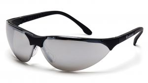 Pyramex Safety - Rendezvous - Black Frame/Silver Mirror Lens Polycarbonate Safety Glasses - 12 / BX