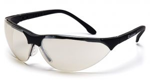 Pyramex Safety - Rendezvous - Black Frame/Indoor/Outdoor Mirror Lens Polycarbonate Safety Glasses - 12 / BX