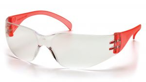 Pyramex  Intruder  Red Temples/ClearHardcoated Lens  Safety Glasses  12/BX