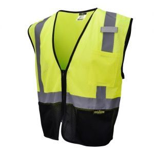 Radians SV3B Black Bottom 2 Tone Economy Mesh Safety Vest Class 2 Type R