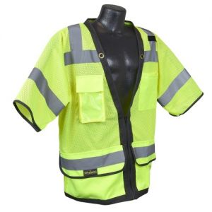 Radians SV59Z-3 Safety Vest - Class 3 - Surveyor - Heavy Duty Mesh with Zipper (1 EA)