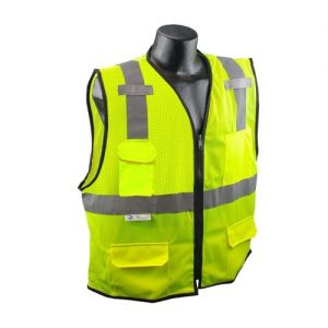 Radians SV7E Safety Vest - Class 2 - Surveyor - Mesh with Zipper (1 EA)