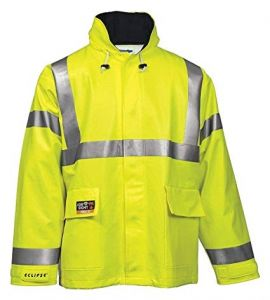 Tingley J44122 Eclipse Jacket Fluorescent Yellow-Green Attached Hood
