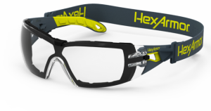 HexArmor MX200G Dual Action Anti Fog Safety Glasses TruShield 2SF Clear Lens Clear  1 / Pair