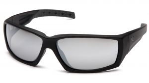 Venture Gear Tactical  Overwatch  Black Frame/Silver Mirror Anti Fog Lens Polycarbonate Safety Glasses  1 / EA