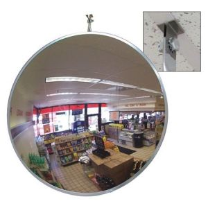 """Domes and Mirrors by Se-Kure SCVI-18T-CLIP 18"""" Indoor Convex Mirror With T-Bar Clip"""