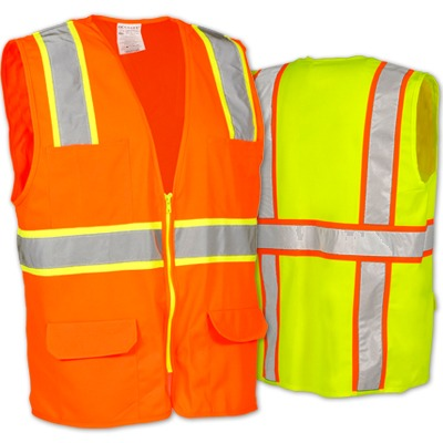 OccuLux Surveyors Solid Two Tone Safety Vest
