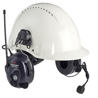 Peltor LiteCom Plus 2-Way Radio Headset, Hardhat Mount