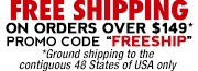 Free Shipping with $99 or more orders