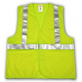 Tingley V71622.2X-3X Class 2 Vest Fluorescent Yellow-Green Polyester Solid  Hook & Loop