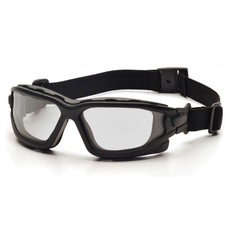 Pyramex Safety - I-Force - Black Strap-Temples/Clear Anti-Fog Lens Polycarbonate Safety Glasses - 12 / BX