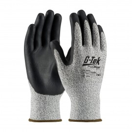 PIP 16-334/L G-Tek Seamless Knit PolyKor Blended Glove with Nitrile Coated Foam Grip on Palm & Fingers Large 6 DZ
