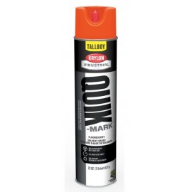 Krylon Quick Mark Tallboy Fluorescent Red/Orange Solvent Based Inverted Marking Paints | TT3701007 12/Case