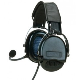 MSA Supreme Pro Headset, Leather Headband, Single Comm, Electret RMIC | 10079965