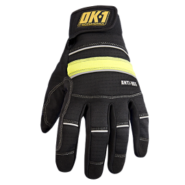 CoolCore OK-CCG400 Anti-Vibration Gloves with D30 Black (2 Pairs)